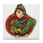 Harvest Girl Tile Coaster