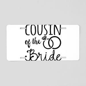 Cousin of the Bride Aluminum License Plate