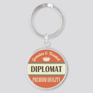 diplomat vintage logo Round Keychain
