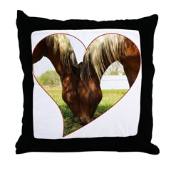 Horse Love Throw Pillow