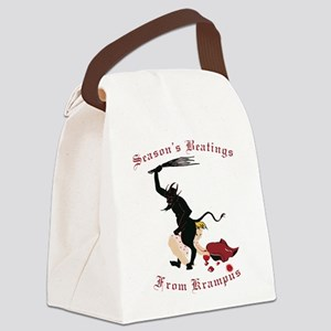 Season's Beatings from Krampus Canvas Lunch Bag