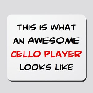 awesome cello player Mousepad