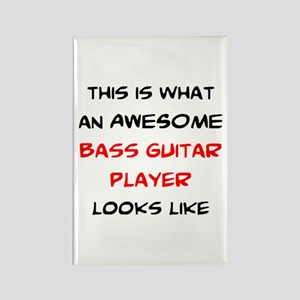 awesome bass guitar Rectangle Magnet
