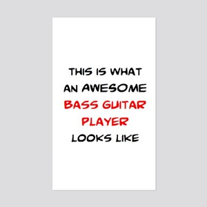 awesome bass guitar Sticker (Rectangle)