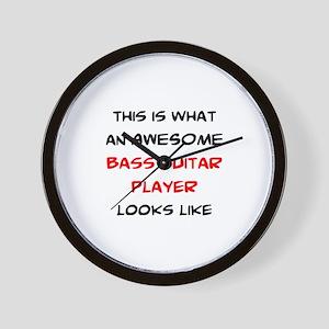 awesome bass guitar Wall Clock