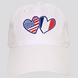 USA France Love Hearts Baseball Cap fc79daac387