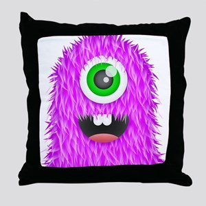 Purple Monster Throw Pillow