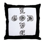 God IS Love Christian Throw Pillow
