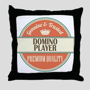 domino player vintage logo Throw Pillow