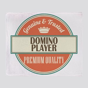 domino player vintage logo Throw Blanket