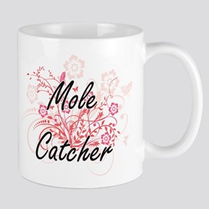 Mole Catcher Artistic Job Design with Flowers Mugs