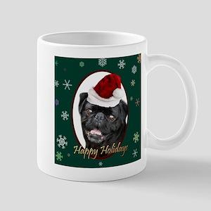 Christmas Pug Dog Mugs