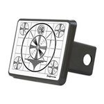 TV Test Pattern Rectangular Hitch Cover