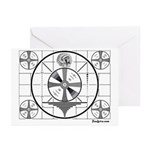 TV Test Pattern Greeting Cards (Pk of 10)
