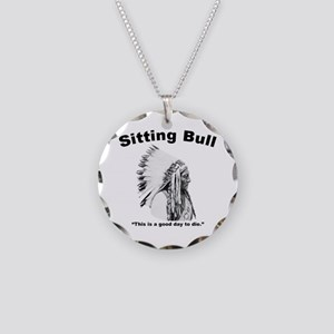 Sitting Bull: Die Necklace Circle Charm