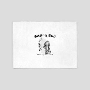 Sitting Bull: Die 5'x7'Area Rug