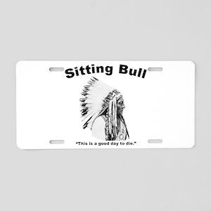 Sitting Bull: Die Aluminum License Plate