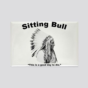 Sitting Bull: Die Rectangle Magnet