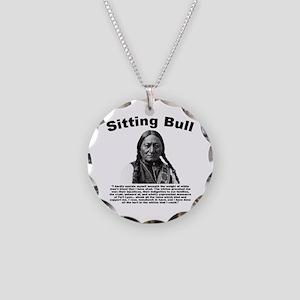 Sitting Bull: Tomahawk Necklace Circle Charm
