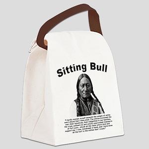 Sitting Bull: Tomahawk Canvas Lunch Bag