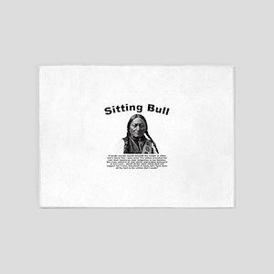 Sitting Bull: Tomahawk 5'x7'Area Rug
