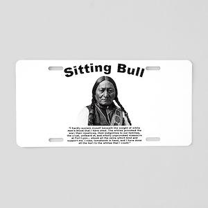 Sitting Bull: Tomahawk Aluminum License Plate