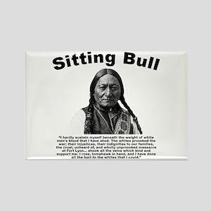 Sitting Bull: Tomahawk Rectangle Magnet