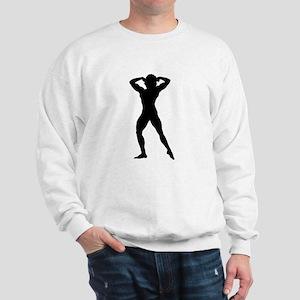 Female Bodybuilder Silhouette Sweatshirt