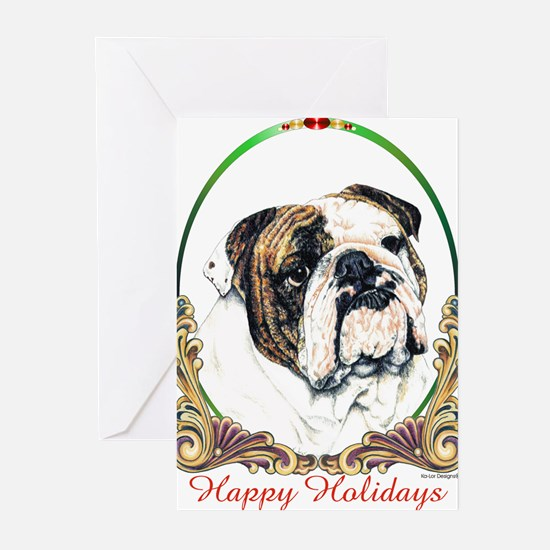 Funny Bulldog portrait Greeting Cards (Pk of 20)