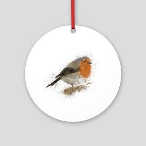 Red Robin Round Ornament