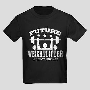 Future Weightlifter Like My Uncl Kids Dark T-Shirt