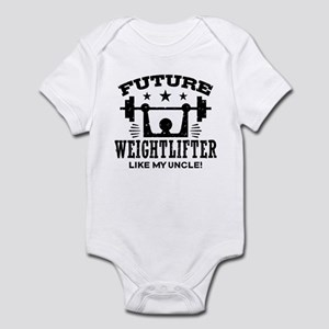 Future Weightlifter Like My Uncle Infant Bodysuit