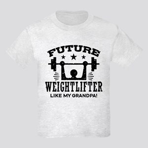 Future Weightlifter Like My Gra Kids Light T-Shirt