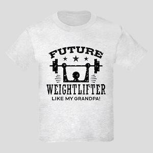 Future Weightlifter Like My Gra Kids Light T-Shirt
