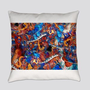 Piano Musical Instruments Colorful Everyday Pillow