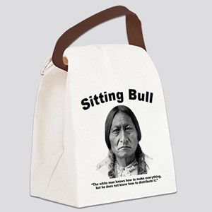 Sitting Bull: Share Canvas Lunch Bag