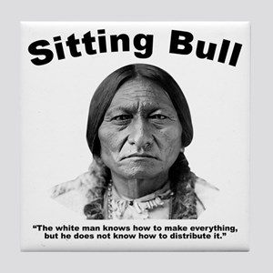 Sitting Bull: Share Tile Coaster