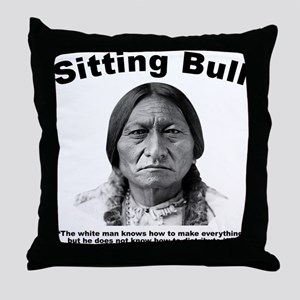 Sitting Bull: Share Throw Pillow