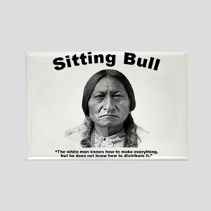 Sitting Bull: Share Rectangle Magnet