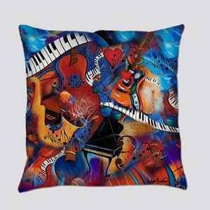 Piano Music Guitar Sax Musicial in Everyday Pillow