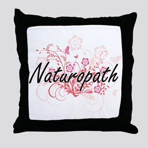 Naturopath Artistic Job Design with F Throw Pillow