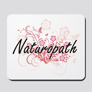 Naturopath Artistic Job Design with Flow Mousepad
