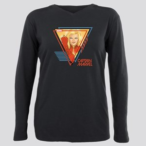 Captain Marvel Triangle Plus Size Long Sleeve Tee
