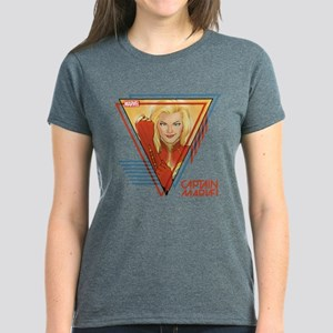 Captain Marvel Triangle Women's Dark T-Shirt