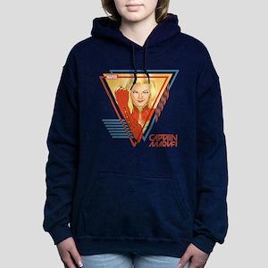 Captain Marvel Triangle Women's Hooded Sweatshirt