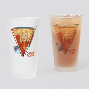 Captain Marvel Triangle Drinking Glass
