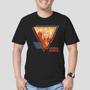 Captain Marvel Triangl Men's Fitted T-Shirt (dark)