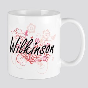 Wilkinson surname artistic design with Flower Mugs