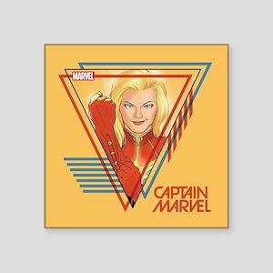 """Captain Marvel Triangle Square Sticker 3"""" x 3"""""""