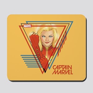 Captain Marvel Triangle Mousepad